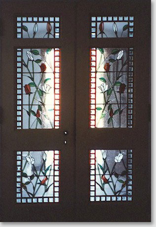 New door designs stained glass interior vestibule door for Interior glass panel doors designs